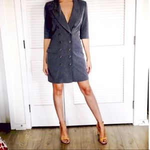Venus Grey Double Breasted Suit Dress Size 10